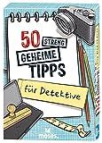 moses. 30240 50 streng geheime Tipps für Detektive | Kinderbeschäftigung | Kartenset