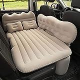 GUOGUODA Reise-aufblasbare Rücksitz-Kissen-Luftmatratze Auto-Luft-Bett-Bequeme mit Pumpe LuftbettBewegliche Dickere Luftbett für Reisen Camping Outdoor Aktivitäten