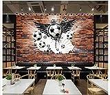 ZHEN WALLPAPER Maßgeschneiderte 3D-Fototapete 3D-Wandtapete 3 D Fußball-Tool Hintergrundwand Wohnzimmerdekoration*150cmx105cm(59.1x41.3inch)
