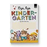 Rundfux® Bye Kindergarten - Ein Abschiedsbuch für Kindergartenkinder und Erzieher zum Abschied   Erinnerung Geschenk - 20 Kinder + Poster