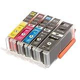 ESMOnline 5 komp. XL Druckerpatronen für Canon Pixma MG 5700 5750 5751 5752 5753 6800 6850 6851 6852 6853 7700 7750 7751 7752 7753 TS 5050 5051 5053 5055 6050 6051 6052 8050 8051 8052 8053 9050 9055