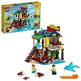 LEGO 31118 Creator 3-in-1 Surfer-Strandhaus, Leuchtturm & Poolhaus, Konstruktionsspielzeug ab 8 J