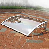 WXQIANG Türvordach Sonnensegel, Transparente Tür Eintrag Markise Türüberdachung Terrassendach - Größe: 60 * 60/80/100/120 / 150CM (Size : 60 * 150cm)