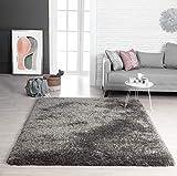 Mia´s Teppiche Lotte Moderner Weicher Hochflor (70 mm) Teppich, Anthrazit, 60x90