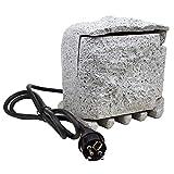 Außensteckdose Stein dunkelgrau 4 Fach IP-44