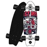 ZBYL Komplett Holz Cruiser Skateboard Pumping Deck Carver Skateboards 8 lagigem Ahornholz Longboard CX4 Fancy Board für Anfänger Kind Jugendliche Surf Boards mit 78A Stoßfest Räder ABEC-9 Kugellager