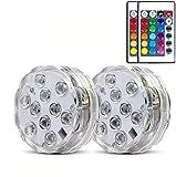 Unterwasser-LED-Lichter, wasserdicht, dekorativ, batteriebetrieben, kabellose Fernbedienung, Lichter für Aquarien, Teich, Schwimmbad, Party, Holloween, Dekorationen