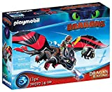 PLAYMOBIL DreamWorks Dragons 70727 Dragon Racing: Hicks und Ohnezahn, Mit Lichtmodul, Ab 4 J