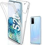 HQ-CLOUD® Schutzhülle kompatibel mit Samsung Galaxy S20 Plus, Schutzhülle Gel 360, Rundumschutz, transparent