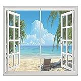 Fliegengitter Fenster 125x145cm Einfach Montieren Ohne Bohren Magnetischer Fliegenvorhang Vollrahmen Klettverschluss für alle Arten von Fenstern, Grau A