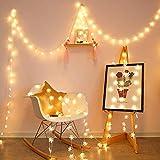 LED Schneeflocke Lichtschnur Stern Lichterkette Anhänger Hochzeit Bankett Urlaub Dekoration Beleuchtung Schnur Batterie 3m30 LEDs