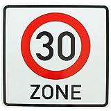 ORIGINAL Verkehrszeichen 30 Zone Verkehrsschild für den 30. Geburtstag Geschenk Schild Strassenschild Straßenzeichen Geburtstagsschild Schilder mit RAL Gütezeichen