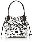 Gabor Shopper Damen, Weiß, Granada animal, 43/35x17,5x28 cm, Handtasche groß, Zebra