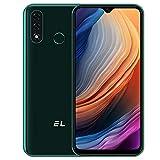 EL D60 Pro 4G Smartphone ohne vertrag, 6,1 Zoll HD Android 10.0 Handy,3GB RAM+ 32GB ROM,13MP+ 8MP Dual Kamera, Großer 4000 mAh Akku, Gesichtsausweis, Fingerabdruck Entsperrtes Dual SIM Handy Grün