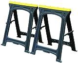 Sägebock-Set, Höhe 822 mm, Länge 571 mm, Breite 52 mm, Werkzeugkörper Material Kunststoff, Werkbank Werkzeuge