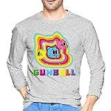 Men's The Amazing World of Gumball Long Sleeve Shirts Fashion Tee Black T-Shirts & Hemden(XX-Large)