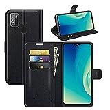 Fertuo Hülle für ZTE Blade A7S 2020, Handyhülle Leder Flip Case Tasche mit Standfunktion, Kartenfach, Magnetschnalle, Silikon Bumper Schutzhülle Cover für ZTE Blade A7S 2020, Schwarz