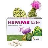 Hepafar Forte | Mariendistel, Artischocke, Löwenzahn Komplex | 120 Kapseln hochdosiert | mit Vitamin E, Phospholipide | Innovative patentierte Formel mit hoher Bioverfügbark