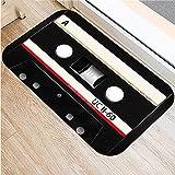 OPLJ 3D-Bandmuster drucken Magnetbandmatten Anti-Rutsch-Boden-Teppich-Fußmatte für Eingangsteppiche Home Fußmatte Dekor A8 60x90