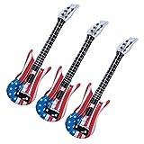 SOIMISS Aufblasbare Frauen- Gitarre Amerikanische Flagge Musterung Aufblasbare Musical Instruments Party Requisiten Event Liefert Geburtstag Party Dekoration Für Rock Und Roll Party