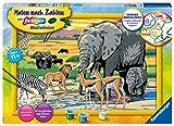 Ravensburger Malen nach Zahlen 28766 - Tiere in Afrika - Für Kinder ab 9 Jahren
