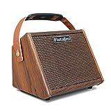 LOVOICE Gitarrenverstärker,15w Tragbarer Akustikgitarrenverstärker Mit Mikrofoneingang, Integriertem Bluetooth, Wiederaufladbarer Akku Bis Zu 8 Stunden,Tragbare Outdoor-Gesang Elektrische Box