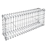 bellissa Ösengabione - 97115 - Gabionenkorb mit Steckverbindung - Dekorativer Steinkorb als Zaun oder Mauer für den Außenbereich - 100 x 20 x 40 cm
