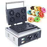 Donut Maker Maschine Elektrisch Donutmaker Edelstahl Donuts Maschine Antihaftbeschichtung Einstellbare Temperatur und Zeit