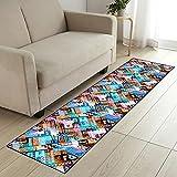 COMENO Mode Korridor Teppich Läufer Küche Fußmatte, Weich und Bequem,rutschfest Teppichläufer Meterware, für Schlafzimmer Küche- 120x200