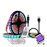 DZHT DC 5V WS2812B Bluetooth USB LED-Leuchte Mit 5050 APP-Controller RGB Individuell Adressierbare LED-Leuchte Mit WS2812 Pixel Gürtelgruppe (Color : 2M 30LED kit)