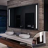 Artforma Badspiegel 140x60 cm mit LED Beleuchtung und Abdeckung- Wählen Sie Zubehör - Individuell Nach Maß - Beleuchtet Wandspiegel Lichtspiegel Badezimmerspiegel - LED Farbe zu Wählen L02