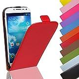 Eximmobile - Flip Case Handytasche für Nokia Lumia 630 in Rot | Kunstledertasche Nokia Lumia 630 Handyhülle | Schutzhülle aus Kunstleder | Cover Tasche | Etui Hülle in Kunstleder