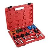 Wakects Arretierwerkzeug für Riemen-Kette, 19-teiliges Motor-Einstellwerkzeug, Nockenwellen-Schwungrad-Verriegelungs-Set, 33 x 25 x 5 cm
