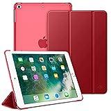 Fintie Hülle für iPad 9.7 Zoll 2018/2017 - Ultradünn Schutzhülle mit transparenter Rückseite Abdeckung Cover mit Auto Schlaf/Wach für 9.7' iPad 6. Generation / 5. Generation, Rot