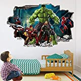 Wandtattoo Super Movie Heroes Wall Art Stickers Mural Decal Hulk Spider