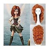 Die Piratenfee Treffen Sie Zarina Cosplay Perücke Halloween Kostüm Halloween Orange Curly Syntehtic Party Perücke + Perücke Capals Bild