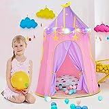 Prinzessin Schloss Zelt, Spielzelte mit Sternenlichtern, Kinder Spielhaus Geburtstagsgeschenk für Mädchen Jungen Kleinkinder Indoor und Outdoor