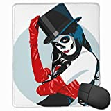 Mauspad Sugar Skull Girl Zylinder Red Gaming Mouse Pad mit wasserfester Oberfläche, rutschfeste Gummibasis