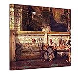 Bilderdepot24 Bild auf Leinwand | Lawrence Alma-Tadema Eine ägyptische Witwe in der Ära Diokletians in 60x60 cm als Wandbild | Wand-deko Dekoration Wohnung alte Meister | 181243G-60x60