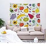 YDyun Wandtuch Wandbehang Wanddekoration Tischdecke Strandtuch Wanddeko Home Tapisserie Obstdruck