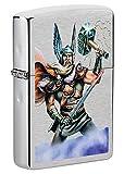 Zippo – Thor Design, Chrome Brushed – Benzin Sturm-Feuerzeug, nachfüllbar, in hochwertiger Geschenkbox 49250 bunt einheitsgröße