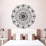 Mandala Wandaufkleber Meditation Stil Wandkunst Aufkleber Ritual Objekt Schlafzimmer Dekoration Mandala Blume Wandtattoo A17 57x57