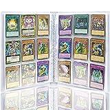 Auzof Pokemon Sammelalbum,450 Taschen Sammelkarten Folien,Sammelmappe, Neutral, Transparent Sammelkartenzubehör