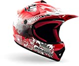 "armor HELMETS® AKC-49 ""Red"" · Kinder Cross-Helm · Motorrad-Helm MX Cross-Helm MTB BMX Cross-Bike Downhill Off-Road Enduro-Helm Moto-Cross Sport · DOT Schnellverschluss Tasche XS (51-52cm)"
