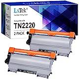 LxTek Kompatibel Tonerkartusche als Ersatz für Brother TN2220 für HL-2130 MFC-7360N DCP-7055 HL-2240 HL-2240D HL-2250DN HL-2270DW DCP-7060D MFC-7460DN 7860DW FAX-2840 FAX-2940 (Schwarz, 2er-Pack)