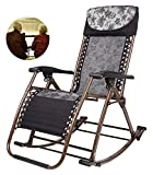 ZOUJIANGTAO Faltbarer Schaukelstuhl mit dauerhafter Rocker für den Außenbereich, tragbarer Stuhl für Gartengeräuse (Color : Black, Size : 50x86x45cm)