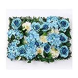 YNGJUENCP 60x40cm-künstliche Blumen Wandpaneele Hängende Rose Für Hochzeitsort Hintergrund Dekor - B