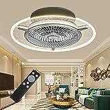 Berkalash 48W Deckenventilator mit Beleuchtung, Fan Deckenleuchte, Einstellbare Windgeschwindigkeit Dimmbar für Schlafzimmer Wohnzimmer E