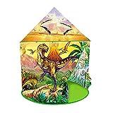 flouris Dinosaurier Spielzelt, Dinosaurier Castle Playhouse Kinder Pop Up Play Zelt Faltbare Kinder Spielen Zelt Für Mädchen/Jungen Indoor- Und Outdoor-Spiele
