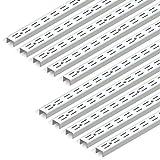 Emuca - Leistenprofil, doppelte Bohrung, Durchlass 32 mm für Regalwinkel L Set aus 10 Stück, Weiß, 951